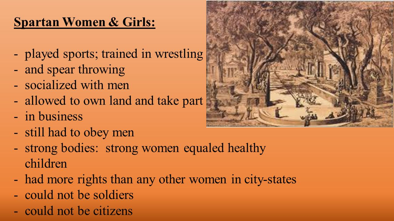 what were spartan women trained in