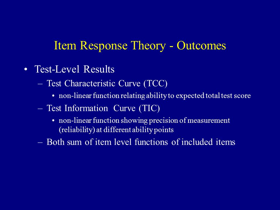 Item Response Theory Dan Mungas, Ph D  Department of Neurology