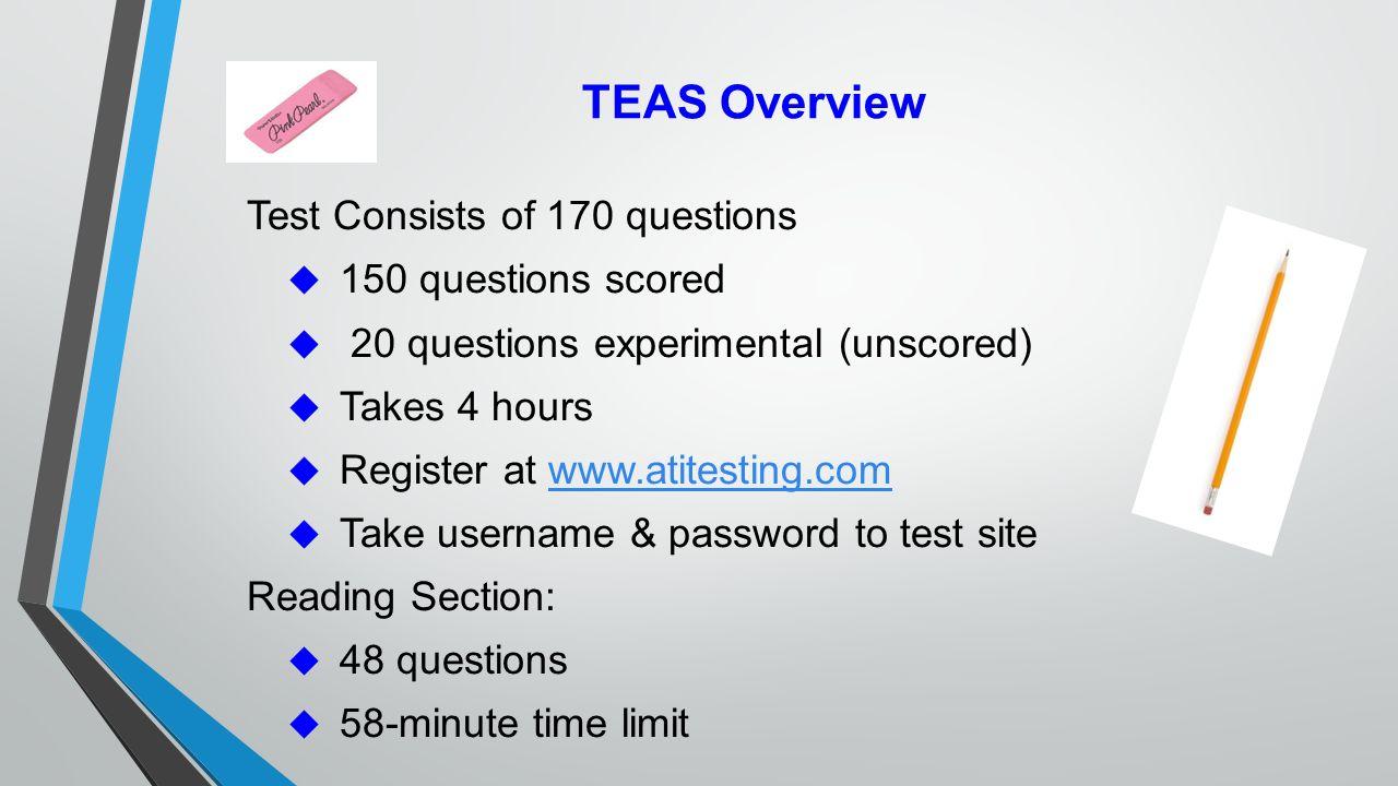 Preparing for the Test of Essential Academic Skills (TEAS