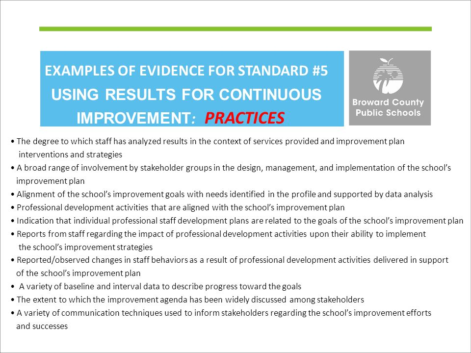 Office of service quality ppt video online download examples of evidence for standard 5 using results for continuous improvement practices freerunsca Choice Image
