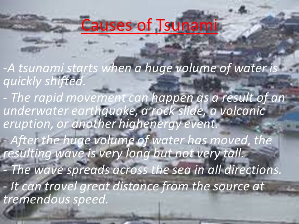 TSUNAMI A Tsunami Also Known As A Seismic Sea Wave Is A Series - Fresh tsunami powerpoint presentation design