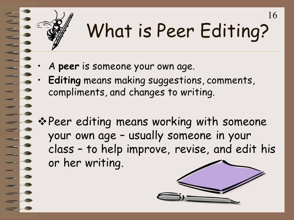 Peer Edit With Perfection Ppt Video Online Download