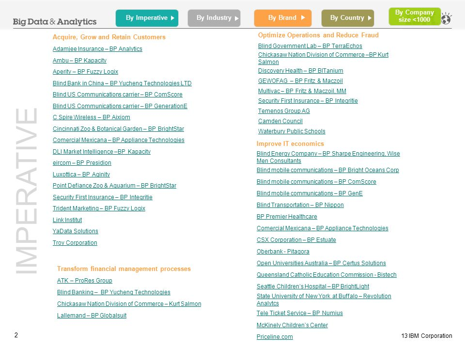Big Data & Analytics Business Partner Case Studies - ppt