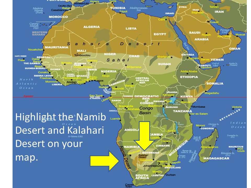 Namib Desert On Africa Map.Sub Saharan Africa Ppt Video Online Download