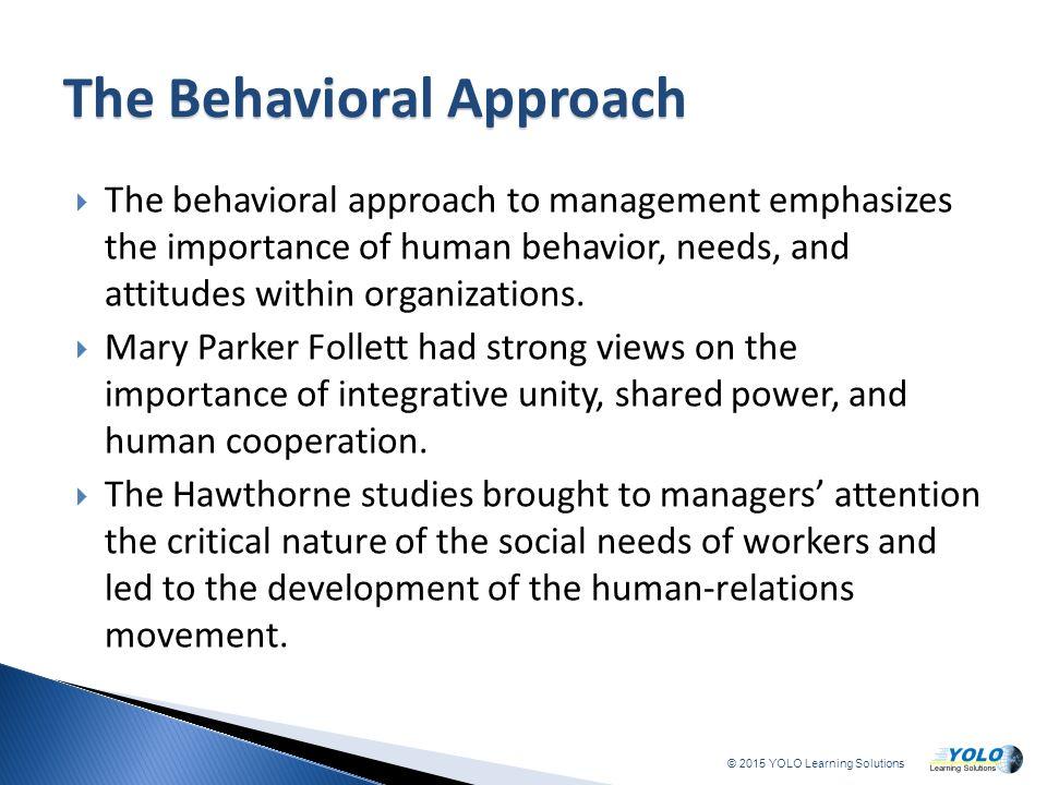 importance of human behavior