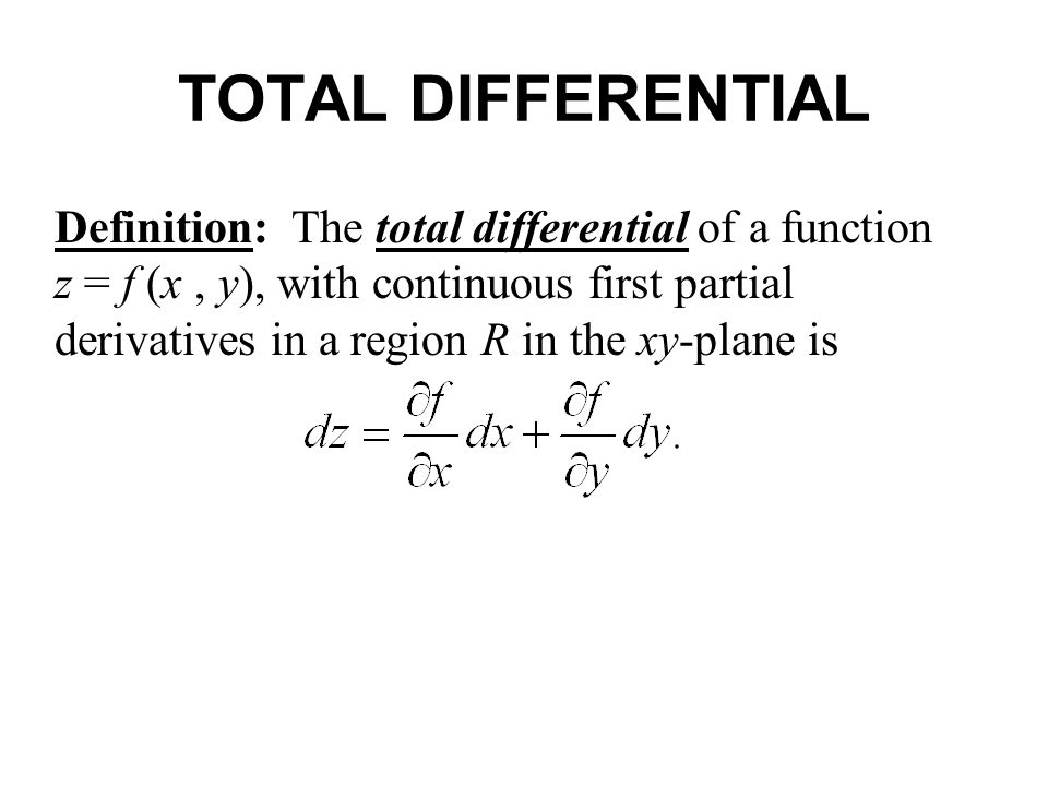 TOTAL DIFFERENTIAL EQUATION PDF