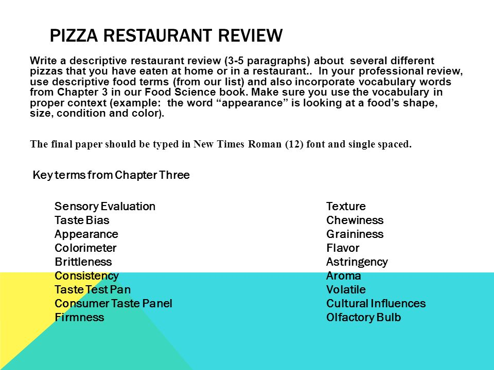 positive restaurant reviews