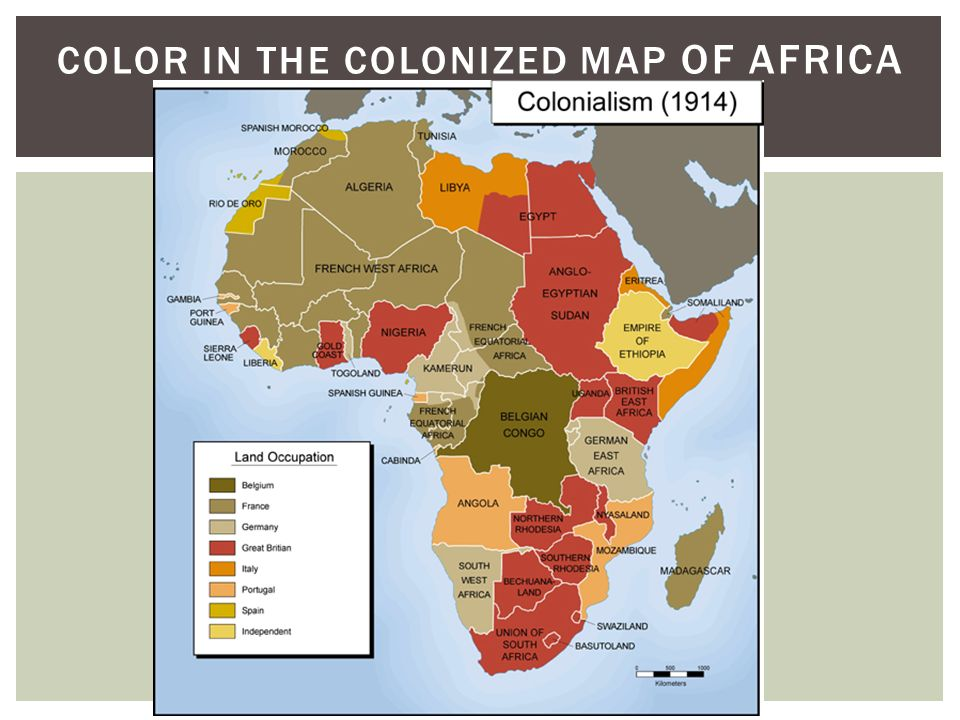 Color in the colonized Map of Africa