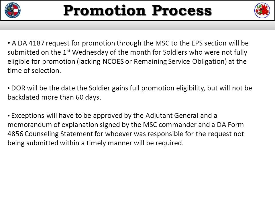 promotion process