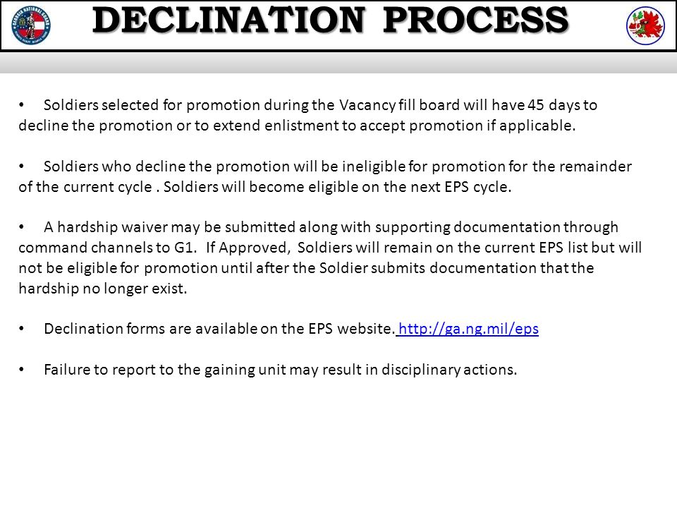 Enlisted Promotion Section Ppt Video Online Download