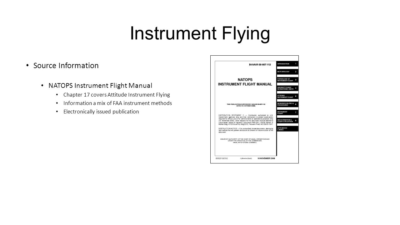 3 Instrument Flying Source Information NATOPS Instrument Flight Manual