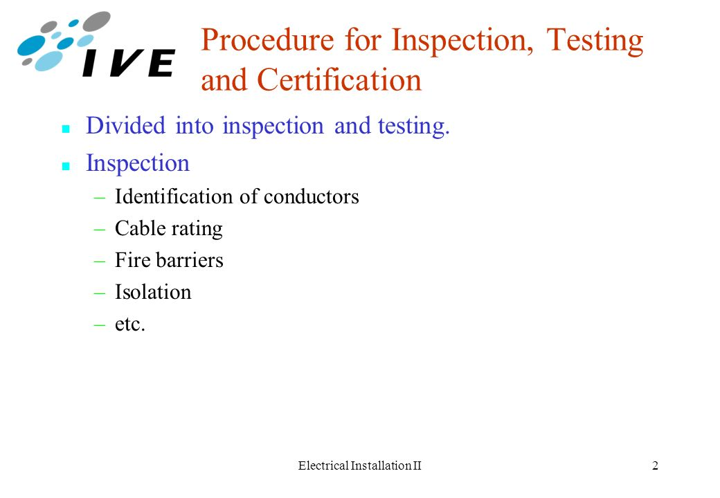Testing Of Low Voltage Installations Ppt Video Online Download