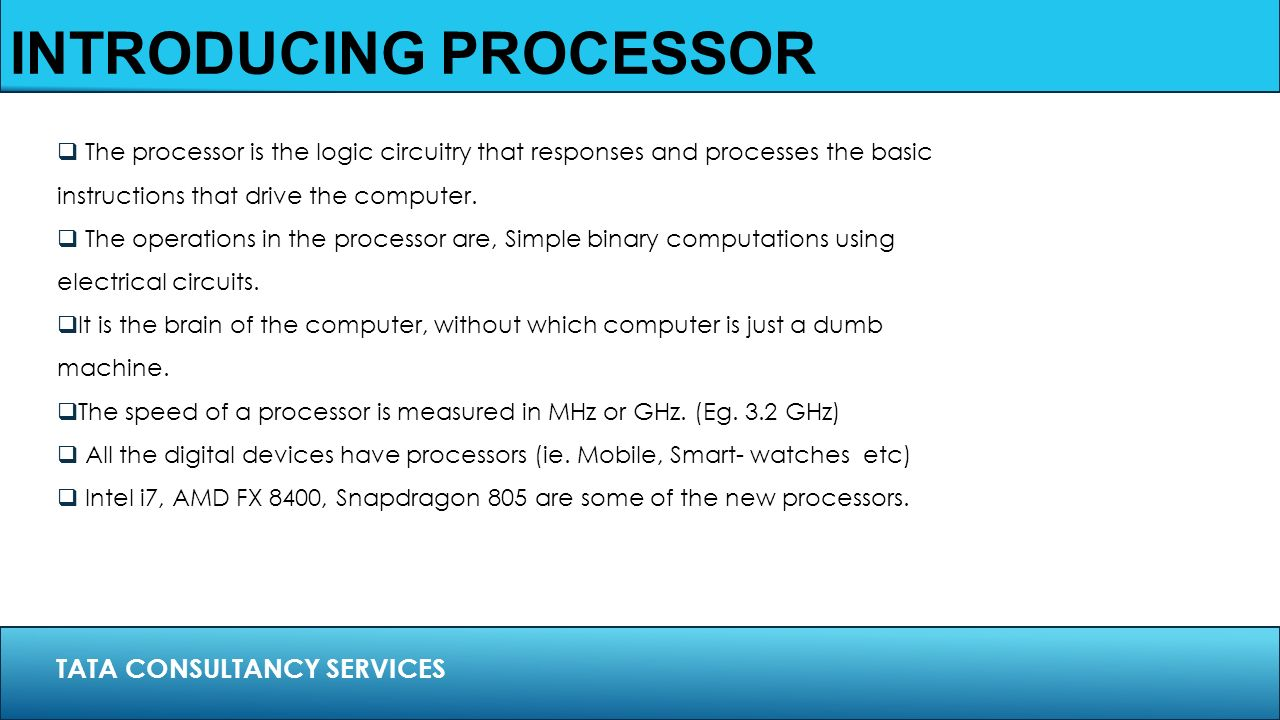 What are the processors