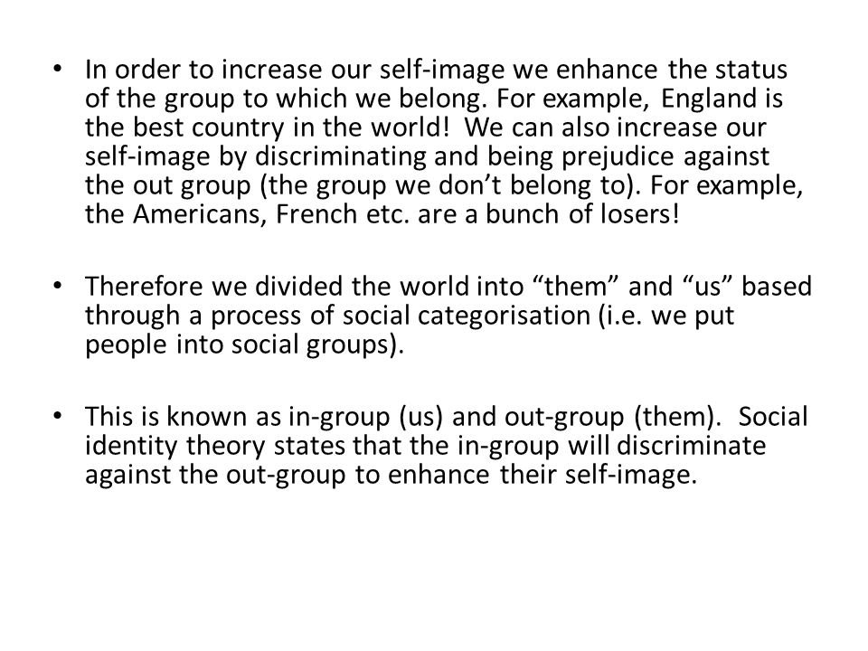 social identity theory example