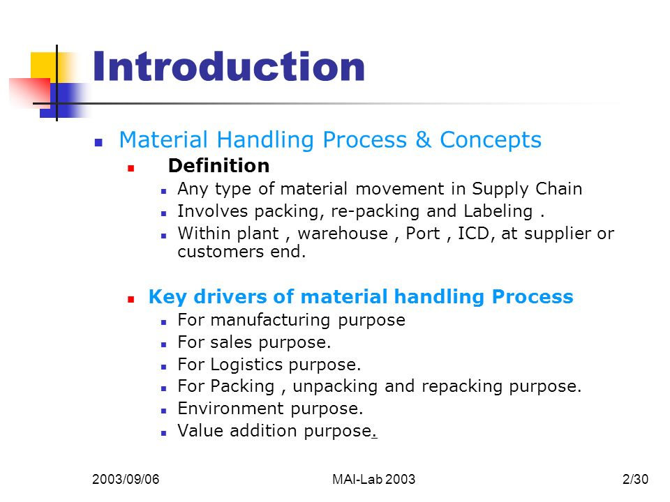 MATERIAL HANDLING DEFINITION EBOOK