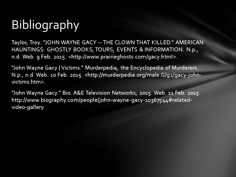 John Wayne Gacy By Chance Smith - ppt video online download
