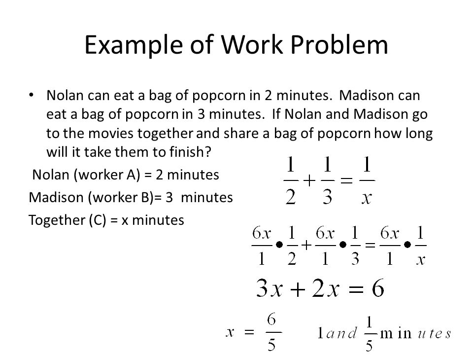 10.7 Solving Rational Equations in Word Problems - ppt video online ...