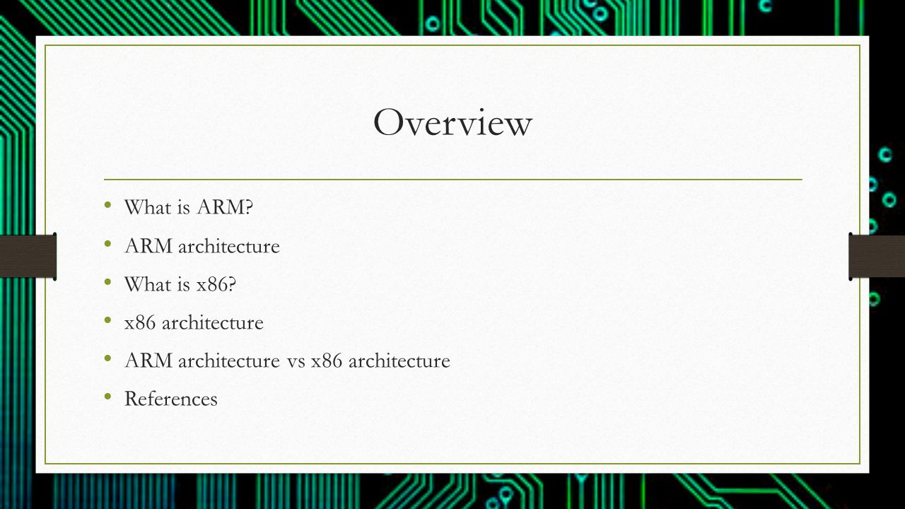 How does ARM architecture differ from x86? - ppt video online download