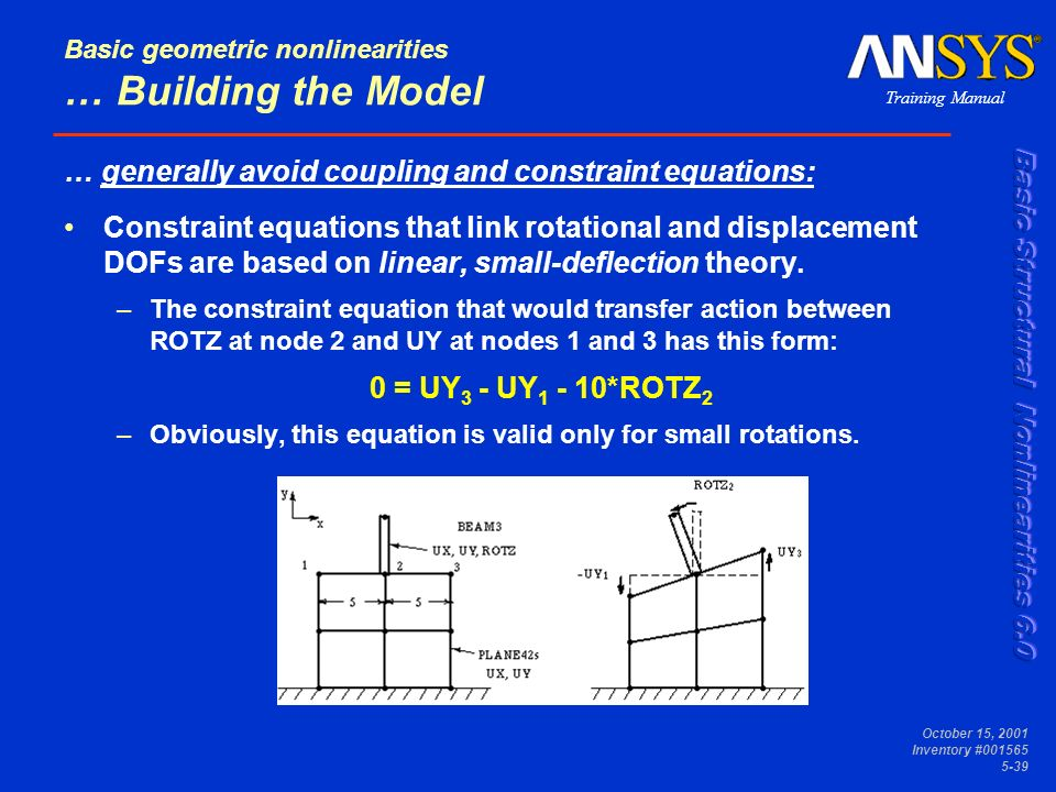Basic Geometric Nonlinearities - ppt download