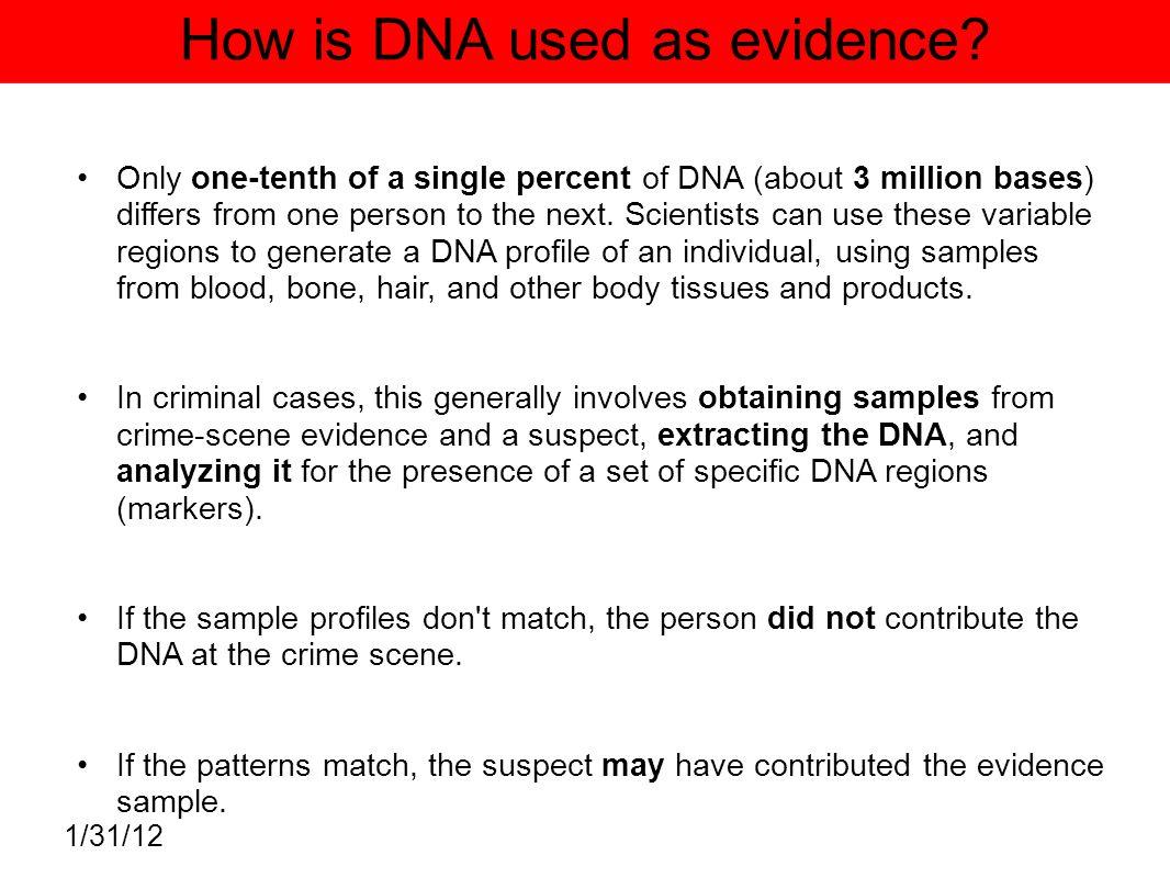 dna evidence in criminal cases