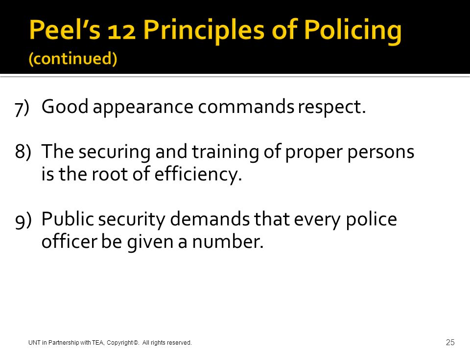 peels principles