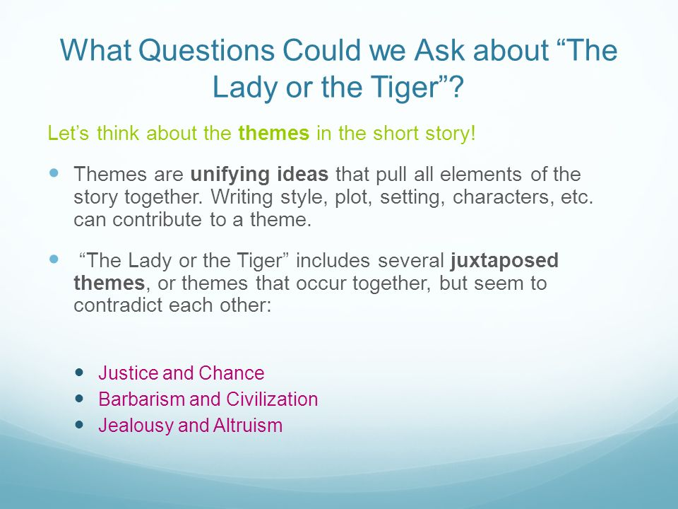 the lady or the tiger plot summary