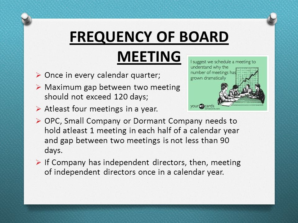Calendar Year Under Companies Act : Audit committee board and general meeting under companies
