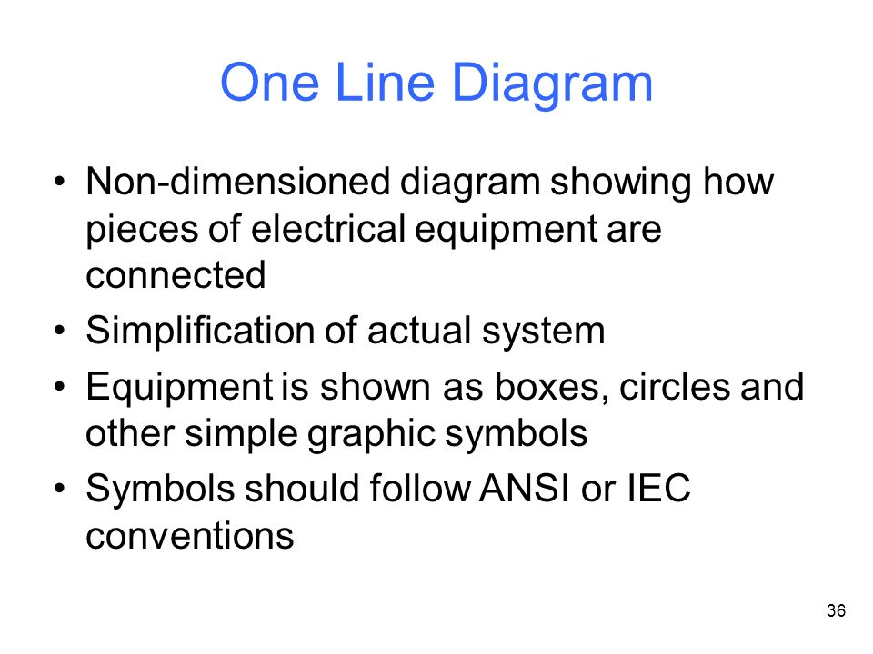 One+Line+Diagram+Non dimensioned+diagram+showing+how+pieces+of+electrical+equipment+are+connected.+Simplification+of+actual+system. ansi single line diagram symbols wiring diagram
