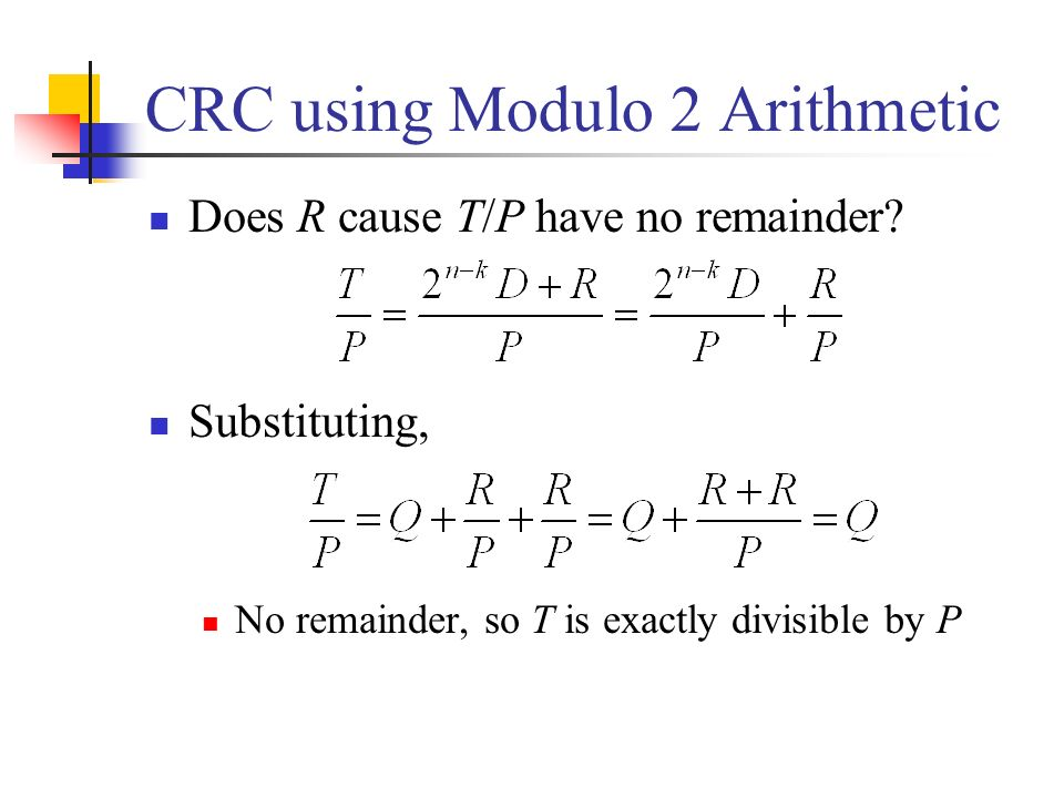 CRC using Modulo 2 Arithmetic