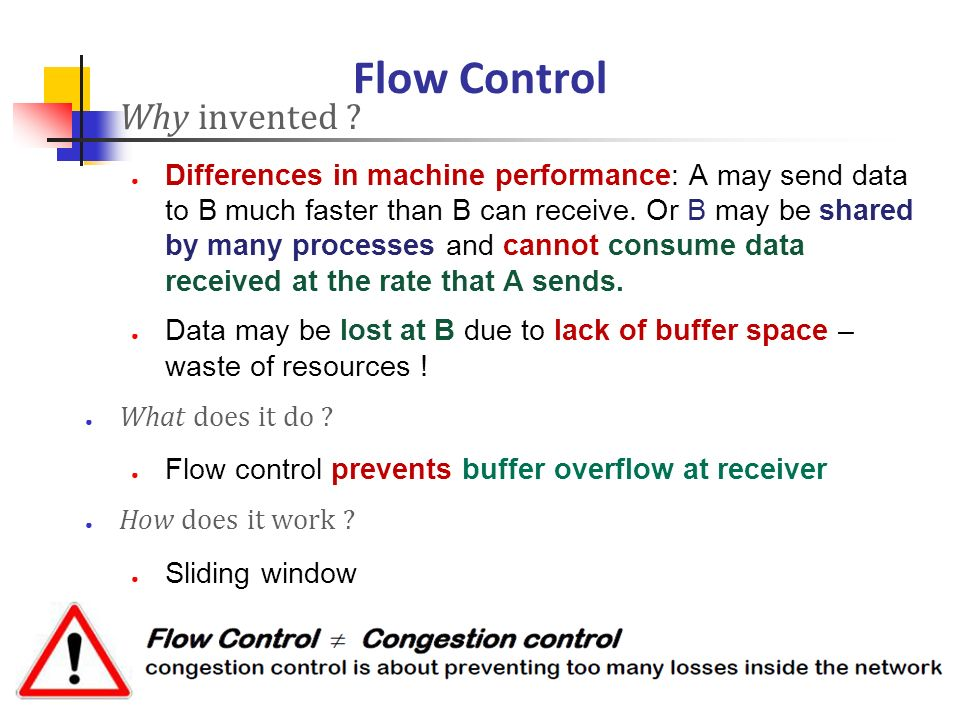 Flow Control Why invented
