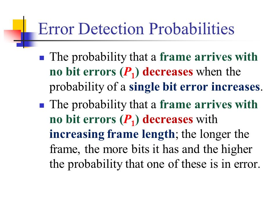 Error Detection Probabilities