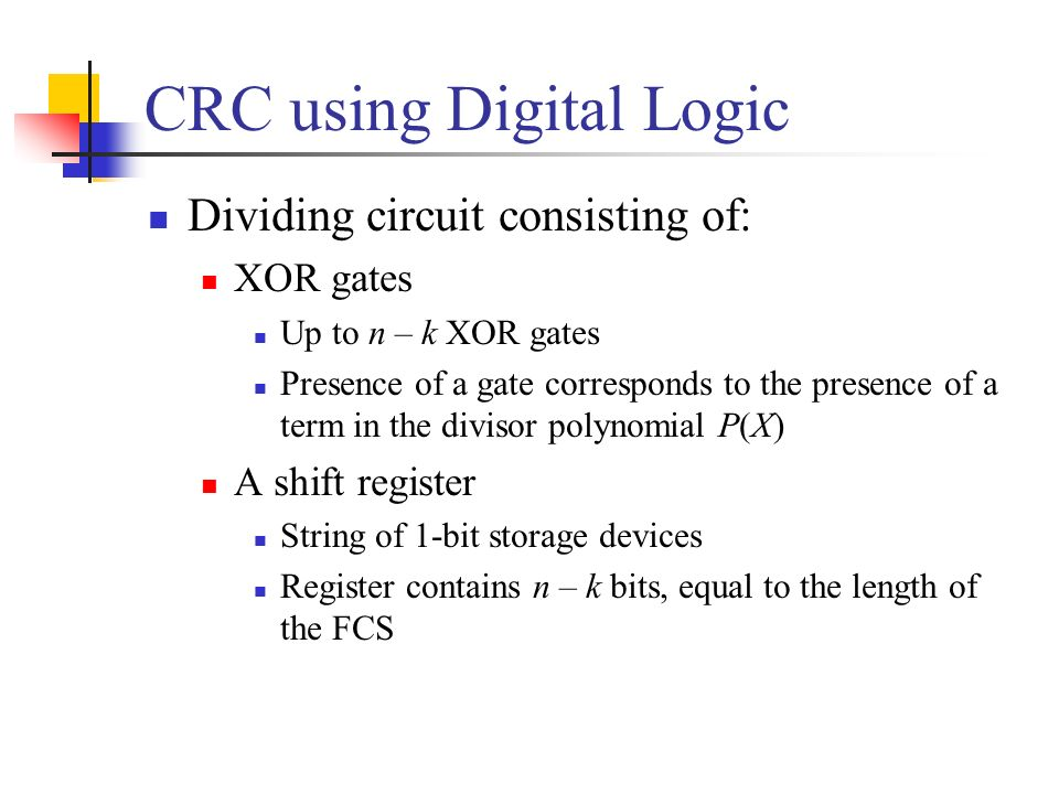 CRC using Digital Logic