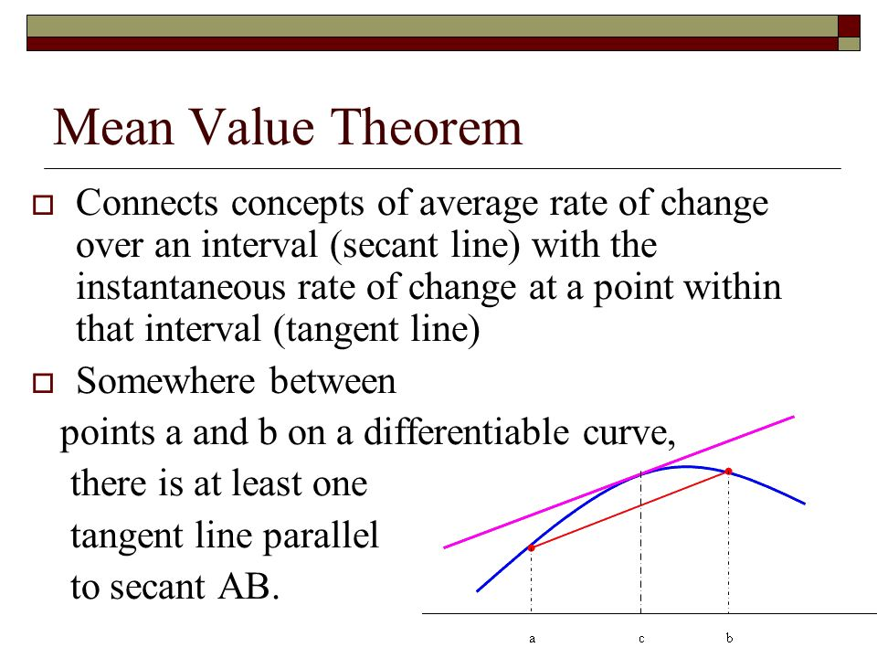 2 Rolle's Theorem And Mean Value Ppt Download. Mean Value Theorem. Worksheet. Worksheet On Mean Value Theorem At Clickcart.co