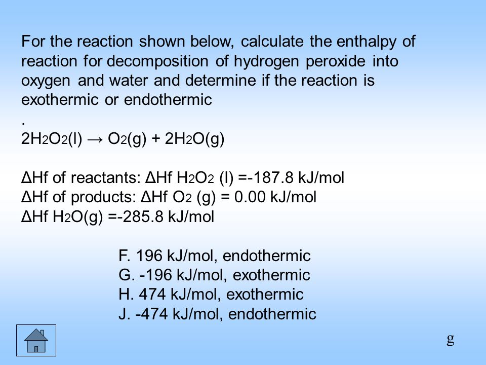 determination of the enthalpy for decomposition In order to determine the enthalpy change for the thermal decomposition of calcium carbonate, we must work out the enthalpy changes for both the reactions of.