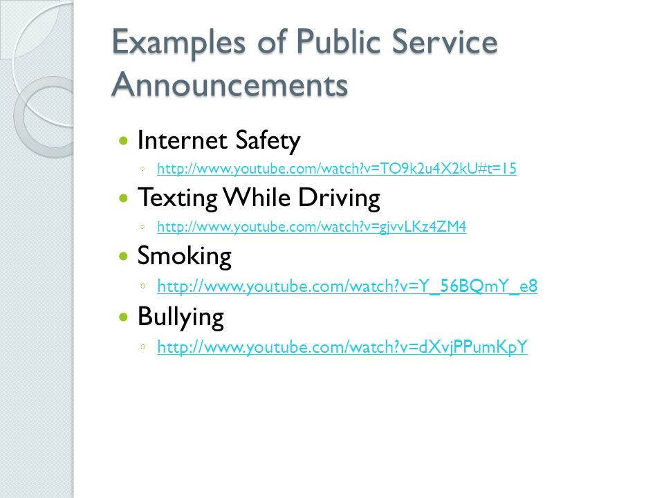 Ssr ppt video online download examples of public service announcements maxwellsz