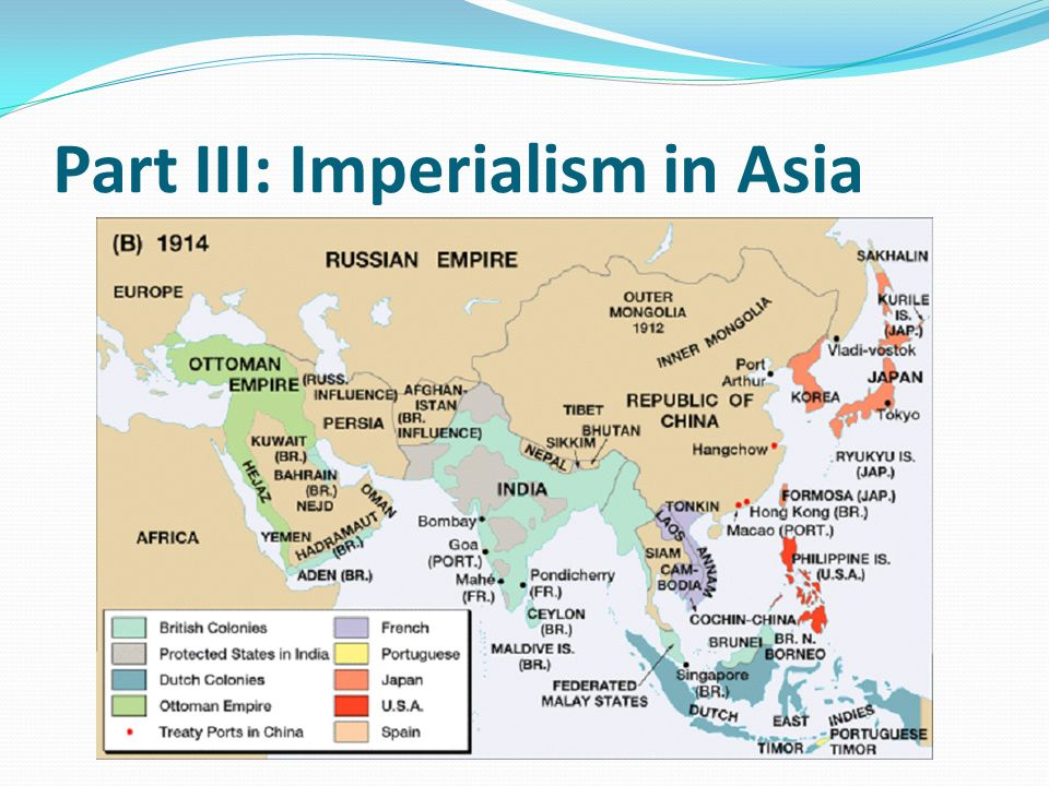 Map Of Asia 1914.Imperialism Ppt Video Online Download