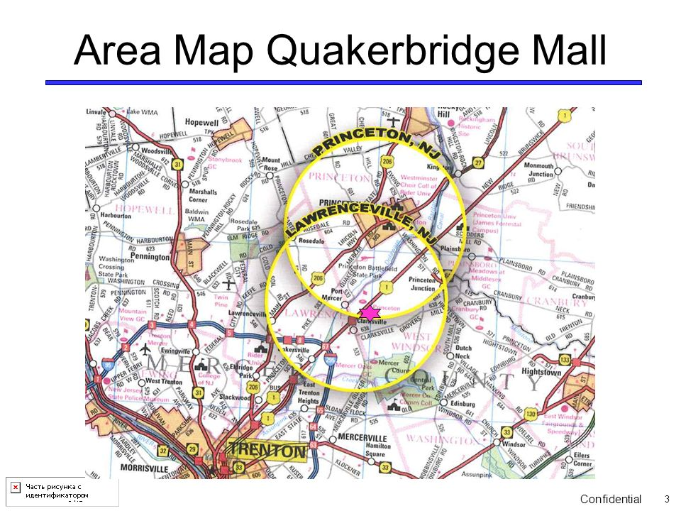 Quakerbridge Mall Map on