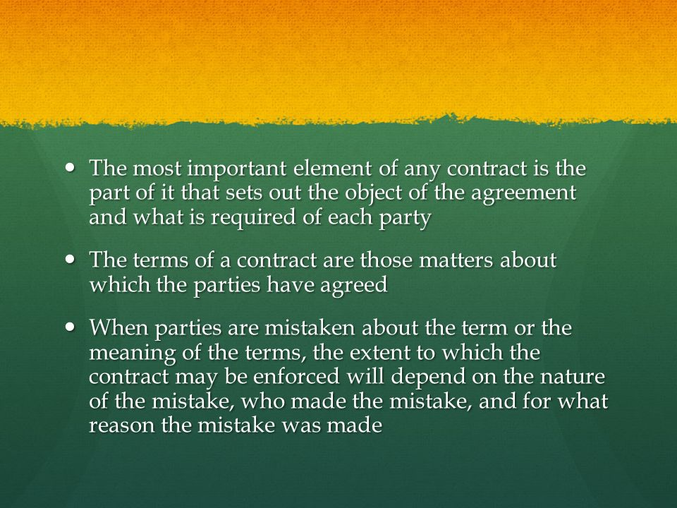 Terms Of A Contract Ppt Download