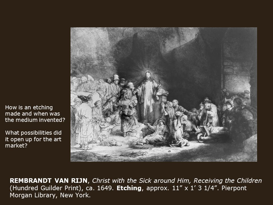Rembrandt Christ With The Sick Around Him
