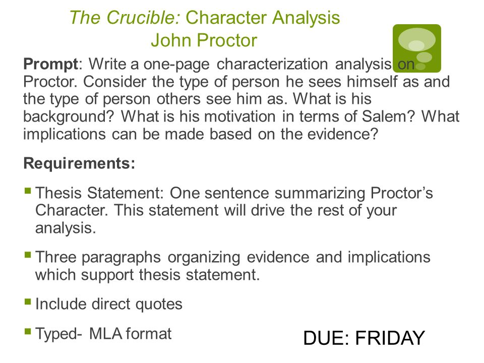 English Essay Websites Character Analysis John Proctor Crucible Narrative Essay Examples High School also Thesis Statement For Descriptive Essay Character Analysis John Proctor Crucible  John Proctor Character  Essay On Business