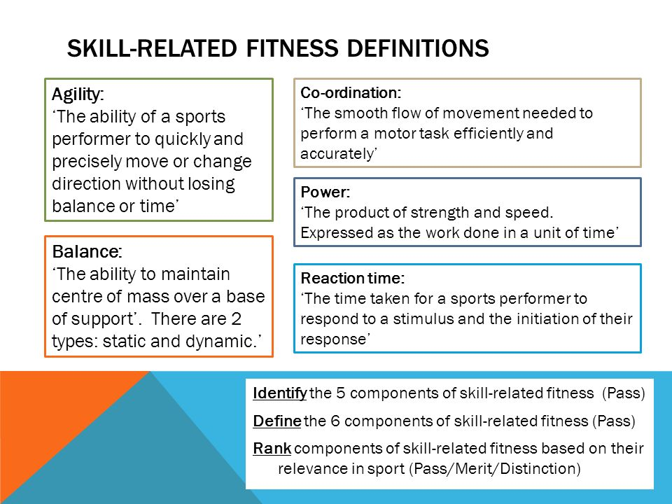 6 Skill Related Fitness Components Examples - Fitness Walls