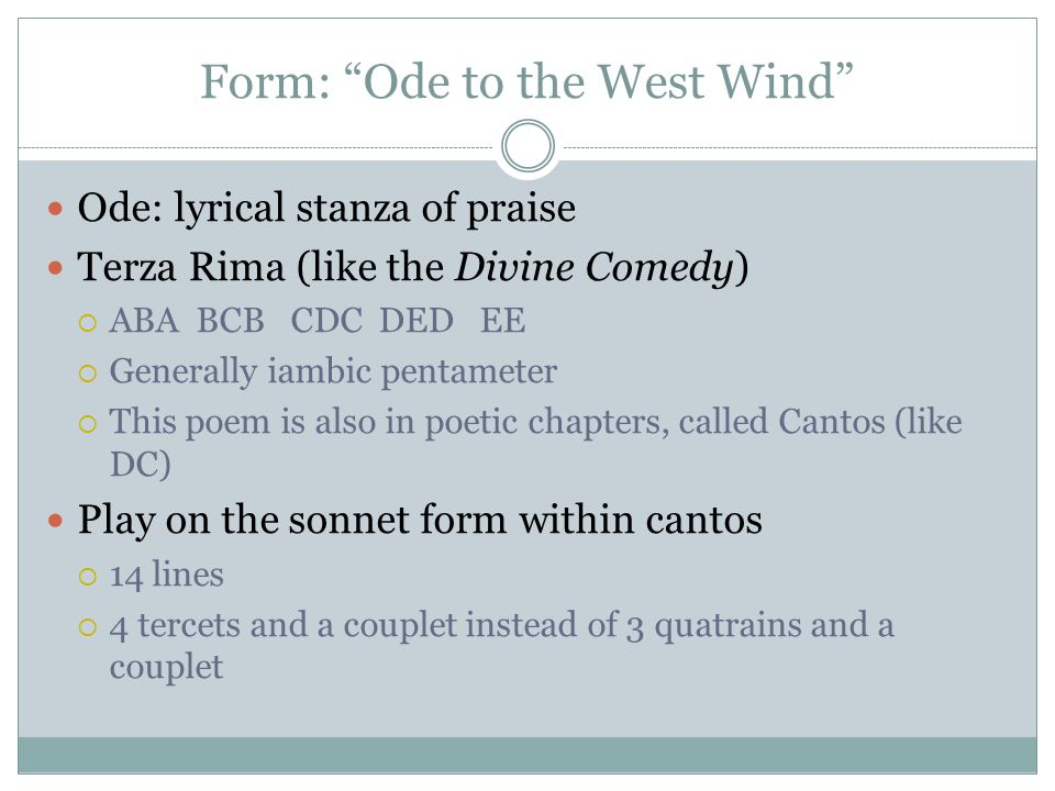 ode to the west wind theme
