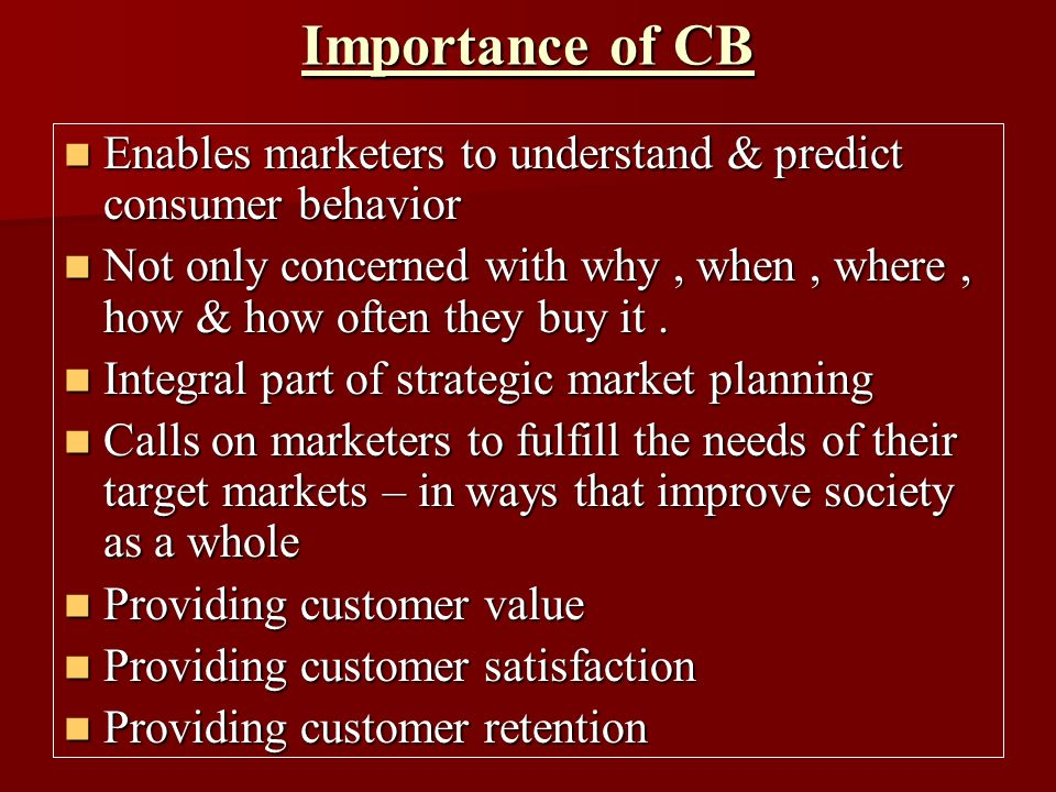 importance of consumer buying behaviour ppt