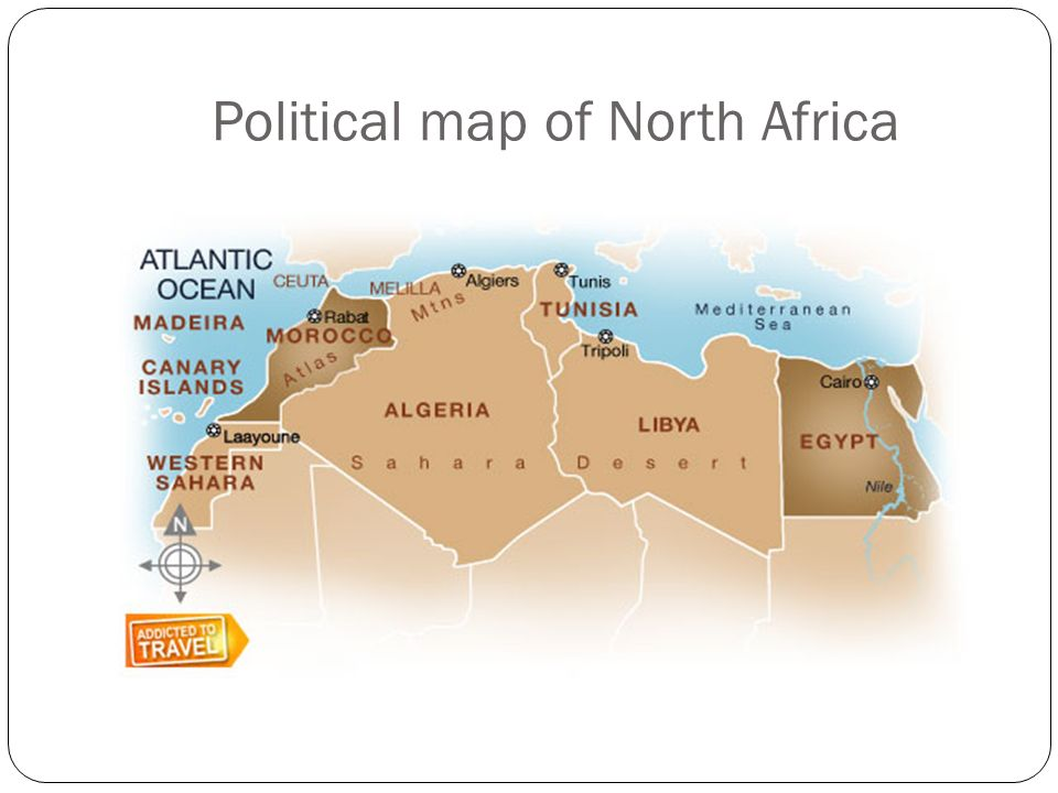 North africa includes the countries of morocco algeria tunisia 2 political map gumiabroncs Image collections