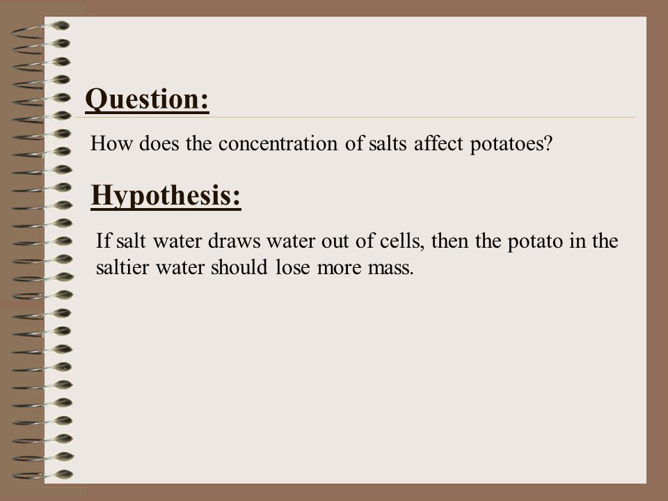 osmosis in potatoes