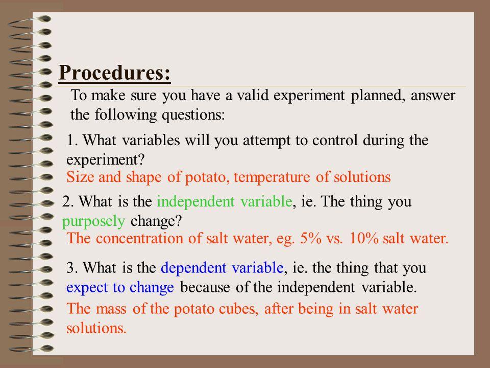 osmosis potato experiment hypothesis