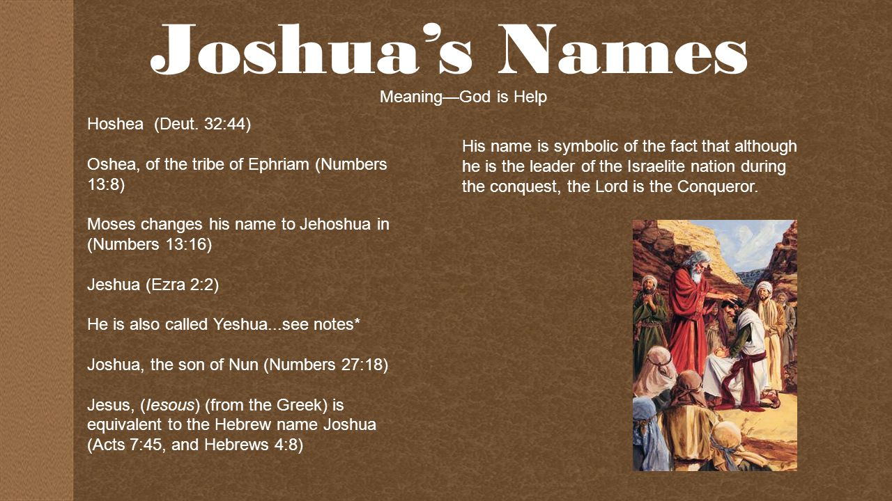 For the Strength of Joshua - ppt video online download