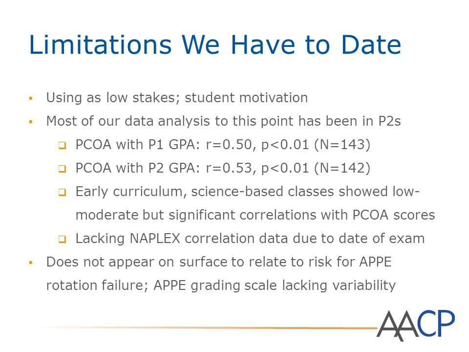 Pharmacy Curriculum Outcomes Assessment (PCOA) - ppt video