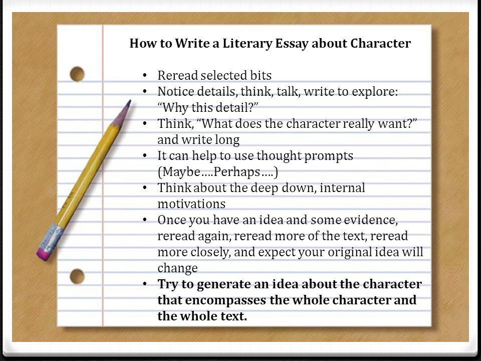 Unit 2 – Argumentative Writing Literary Essays - ppt download