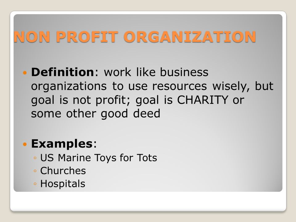 Nonprofit organizations levels, system, examples, business, system.